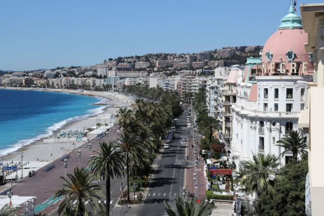 Promenade des Anglais Nice, Côte d'Azur, França
