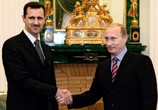 Bashar el-Assad e Vladimir Putin