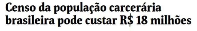 Chamada da Folha de São Paulo, 9 jan° 2017