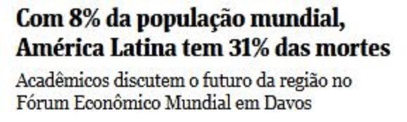 Chamada da Folha de São Paulo, 18 jan° 2017