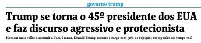"""A Folha de São Paulo qualifica de """"agressivo"""" um discurso enérgico, incisivo, vigoroso, robusto, mas que passou longe de ser agressivo."""