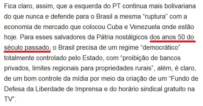 Trecho de editorial do Estadão, 23 jan° 2017