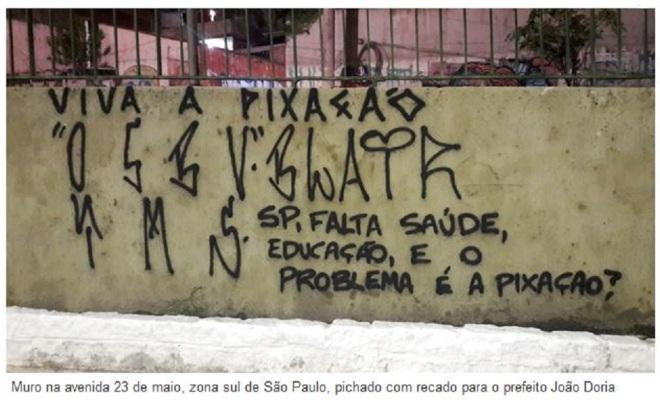 Chamada da Folha de São Paulo, 29 jan° 2017